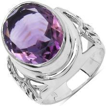 7.83 Carat Genuine Amethyst .925 Sterling Silver Ring #77510v3