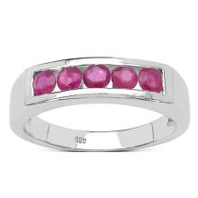 0.60 Carat Genuine Ruby .925 Streling Silver Ring #77478v3