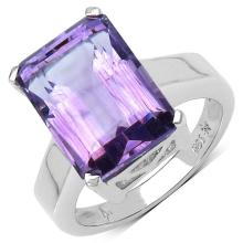 6.10 Carat Genuine Amethyst .925 Sterling Silver Ring #77463v3