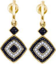 10K Yellow-gold 0.33CT BLACK DIAMOND MICRO PAVE RING #58238v3