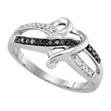 925 Sterling Silver White 0.10CTW DIAMOND FASHION RING #55927v3