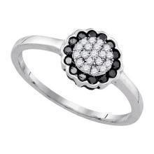 925 Sterling Silver White 0.25CTW DIAMOND FASHION RING #55929v3