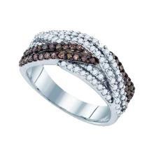 925 Sterling Silver White 0.75CT DIAMOND FASHION RING #56035v3