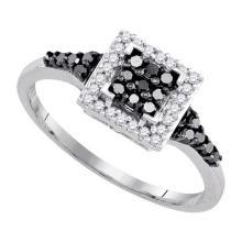 925 Sterling Silver White 0.30CTW DIAMOND FASHION RING #55926v3