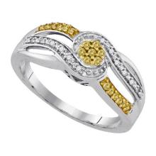 925 Sterling Silver White 0.20CTW DIAMOND FASHION RING #55924v3