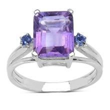 2.70 ct. t.w. Amethyst and Tanzanite Ring in Sterling Silver #77406v3