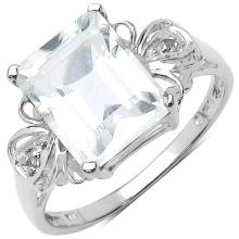 3.30 ct. t.w. Crystal Quartz and White Topaz Ring in Sterling Silver #77323v3