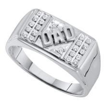 10KT White Gold 0.12CTW DIAMOND DAD RING WHITW GOLD #55383v3
