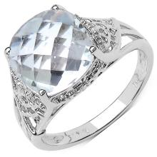 3.39 ct. t.w. Crystal Quartz and White Topaz Ring in Sterling Silver #76788v3