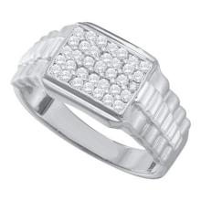 10KT White Gold 0.50CT DIAMOND FASHION MENS RING #55295v3
