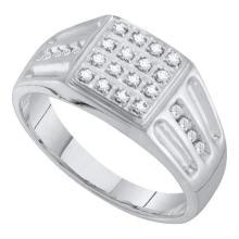 10KT White Gold 0.25CTW DIAMOND MENS RING WHITE GOLD #55371v3
