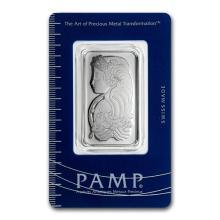 1 oz Platinum Bar - PAMP Suisse (In Assay) #75634v3