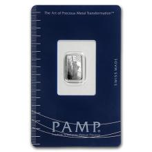 1 gram Platinum Bar - PAMP Suisse Statue of Liberty (In Assay) #75652v3