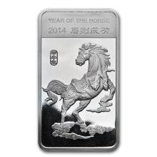 1/2 oz Silver Bar - (2014 Year of the Horse) #52721v3