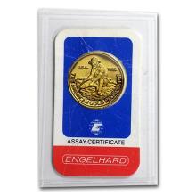 1/4 oz Gold Round - Engelhard (Prospector, In Assay) #75213v3