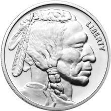 Silver Bullion 1 oz Buffalo Round .999 fine #24419v3