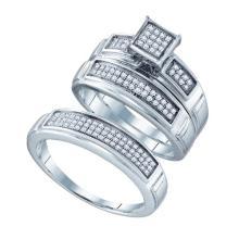 925 Sterling Silver White 0.33CTW DIAMOND FASHION TRIO SET #32952v3