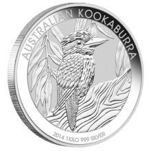Australian Kookaburra Kilo Silver 2014 #24235v3