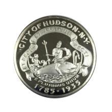 City of Hudson New York Commemorative 1 oz Silver Round #24460v3