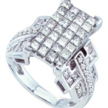 14K White-gold 2.00CTW DIAMOND LADIES INVISIBLE RING #44612v3