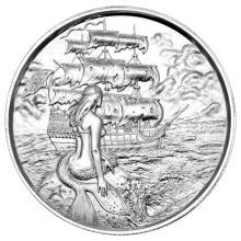Elemetal Mint 2 oz High Relief Silver Round - The Siren #24449v3