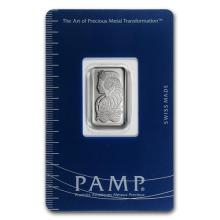 5 gram Platinum Bar - PAMP Suisse (In Assay) #75639v3