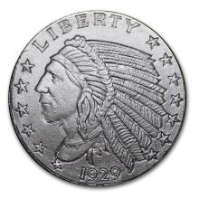 1/10 oz Silver Round - Incuse Indian #52558v3