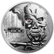 1 oz Silver Round - Terminator T-800 #52660v3