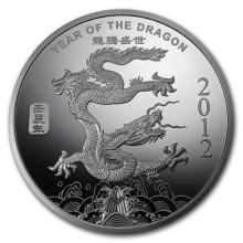 1 oz Silver Round -(2012 Year of the Dragon) #52584v3