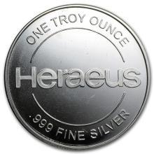 1 oz Silver Round - Heraeus #52589v3