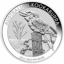 Australian Kookaburra Kilo Silver 2016 #24233v3