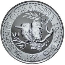 Australian Kookaburra 2 oz. Silver 1994 #24227v3