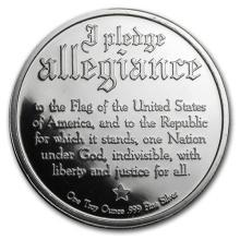 1 oz Silver Round - Pledge of Allegiance #52595v3