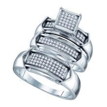 925 Sterling Silver White 0.33CTW DIAMOND FASHION TRIO SET #32393v3