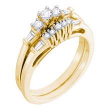 10KT Yellow Gold 0.37CTW DIAMOND ROUND CENTER BRIDAL SET #33031v3