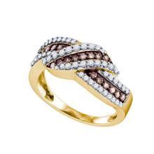 10KT Yellow Gold 0.75CT COGNAC DIAMOND FASHION BAND #32259v3