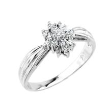 14k White Gold Cocktail Engagement Ring APPROX .30 CTW (VS2-SI1) #23825v3