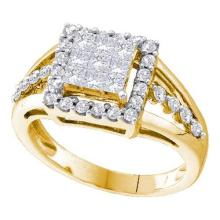 14KT Yellow Gold 1.00CTW DIAMOND INVISIBLE RING #44792v3