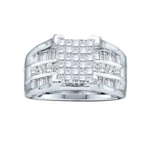 14KT White Gold 1.50CTW DIAMOND LADIES INVISIBLE RING #44478v3
