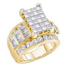 14KT Yellow Gold 5.00CTW DIAMOND INVISIBLE RING #44802v3