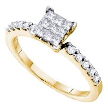 14KT Yellow Gold 0.50CTW DIAMOND INVISIBLE RING #44787v3