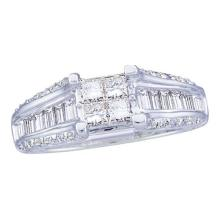 14KT White Gold 1.00CTW DIAMOND LADIES INVISIBLE RING #44345v3