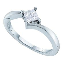14KT White Gold 0.25CTW DIAMOND INVISIBLE LADIES RING #44564v3