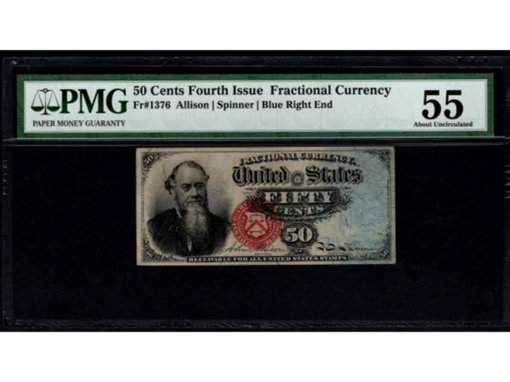 50 Cent Fourth Issue Fractional Note PMG 55
