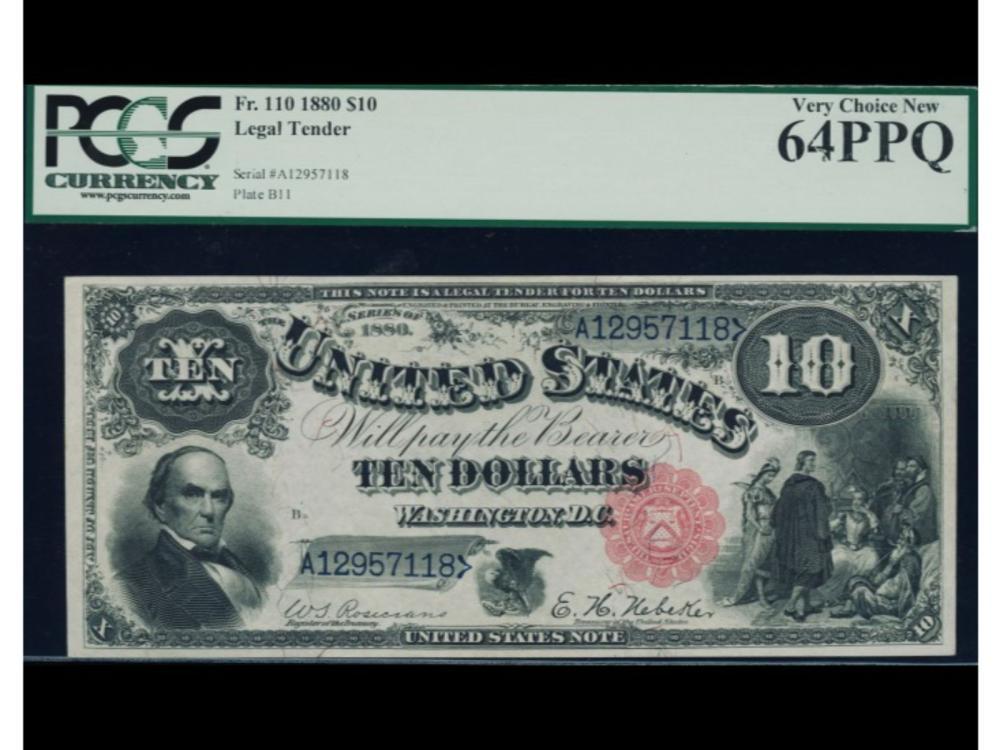 1880 $10 Legal Tender Note PCGS 64PPQ