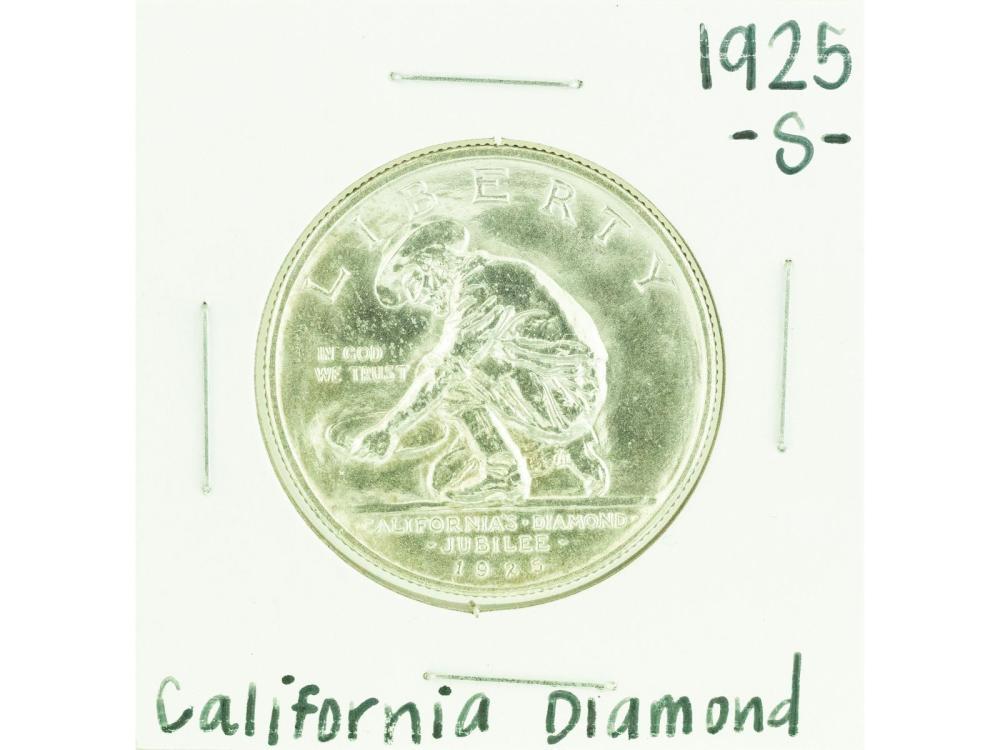 1925-S California Diamond Commemorative Half Dollar Coin