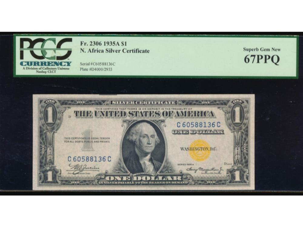 1935a 1 North Africa Wwii Emergency Silver Certificate Pcgs