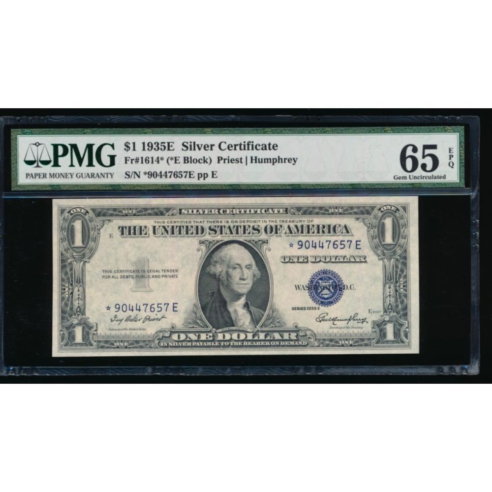 1935e 1 Silver Certificate Pmg 65epq