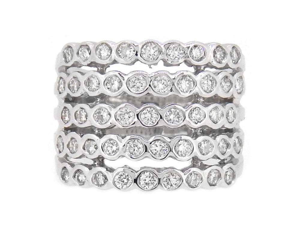 14KT White Gold 1.20ctw Diamond Ring