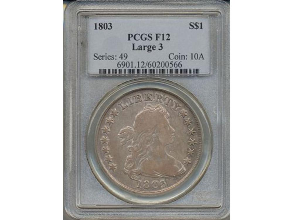 1803 $1 Liberty Bust Dollar Coin PCGS F12